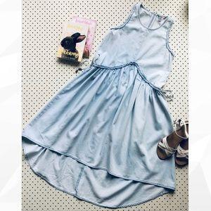Teen Girl Size 16 PAVEMENT highlow chambray denim dress, sleeveless Ladies size8